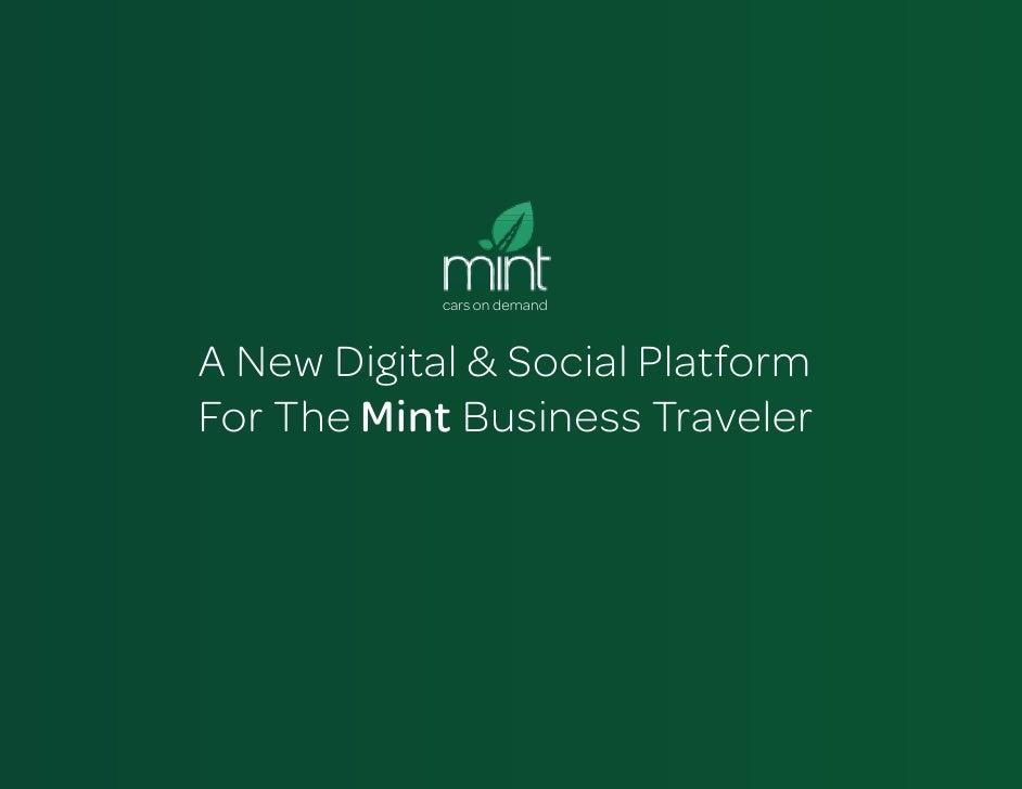 cars on demandA New Digital & Social PlatformFor The Mint Business Traveler