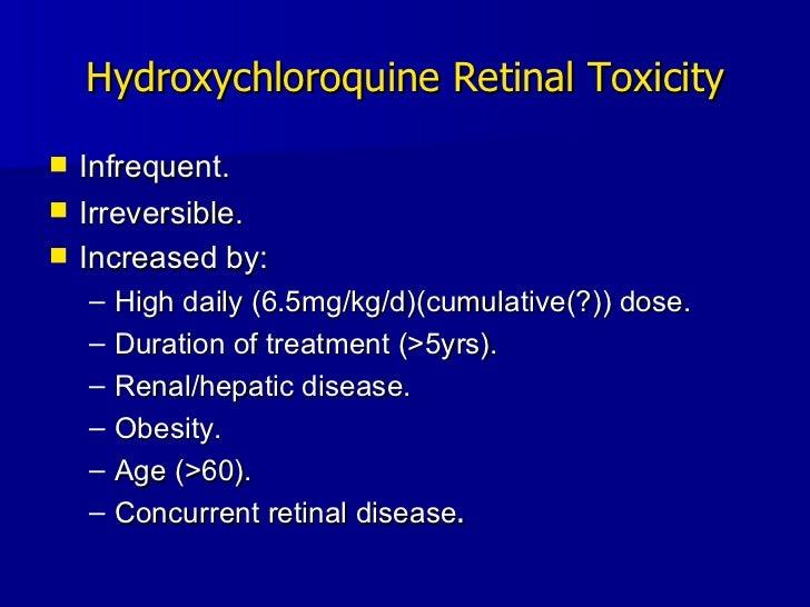 Multifcoal ERG in Hydroxychloroquine Retinopathy