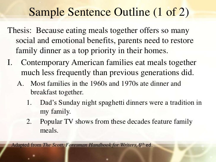 Mff720 S3 Sentence Outline CAA