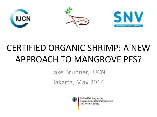 CERTIFIED ORGANIC SHRIMP: A NEW APPROACH TO MANGROVE PES? Jake Brunner, IUCN Jakarta, May 2014