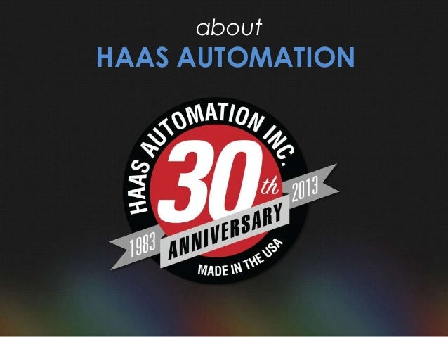 haas automation logo. 29. about haas automation haas automation logo