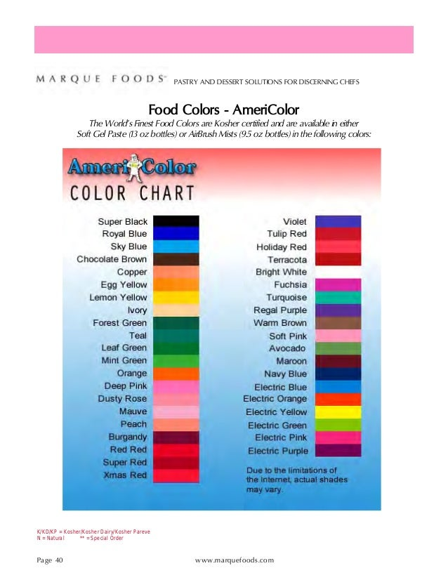 Marque Foods Product Guide