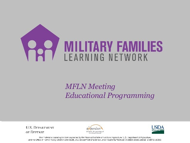 MFLN Meeting Educational Programming