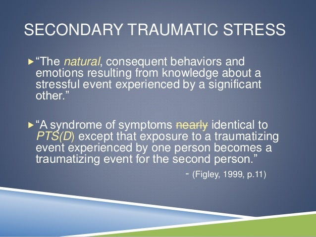 combating compassion fatigue Compassion fatigue, also known as secondary traumatic stress (sts), is a condition characterized by a gradual lessening of compassion over time  conceptualizing one's own ability with self-integration from a theoretical and practice perspective helps to combat criticized or devalued phase of sts.