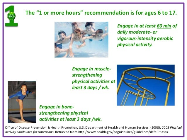 national physical activity guidelines birth to 5 years
