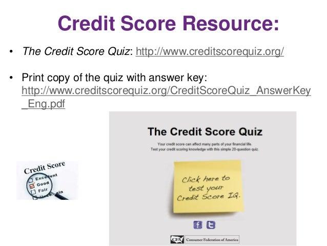 Credit Scores-The Basics