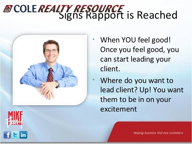 how to build rapport with prospects