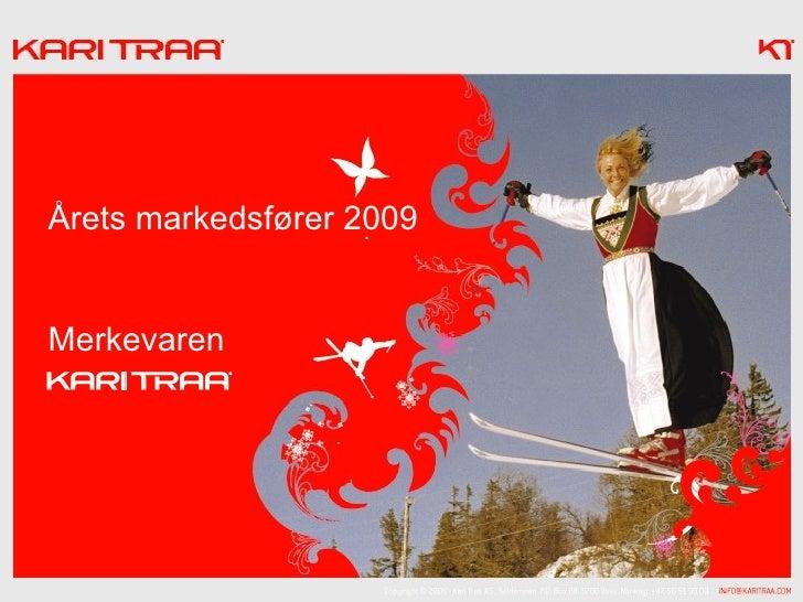Årets markedsfører 2009   Merkevaren