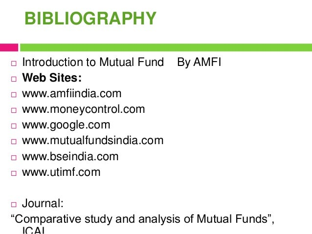 comparative study of mutual funds and