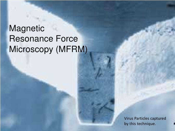 Magnetic Resonance Force Microscopy (MFRM)<br />Virus Particles captured by this technique.<br />