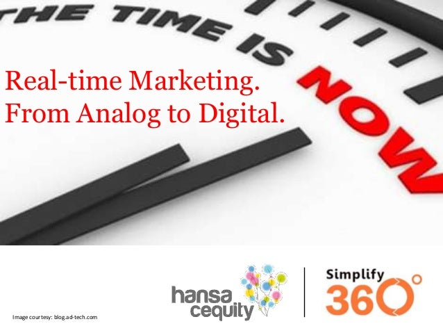 Real-time Marketing. From Analog to Digital.  Image courtesy: blog.ad-tech.com