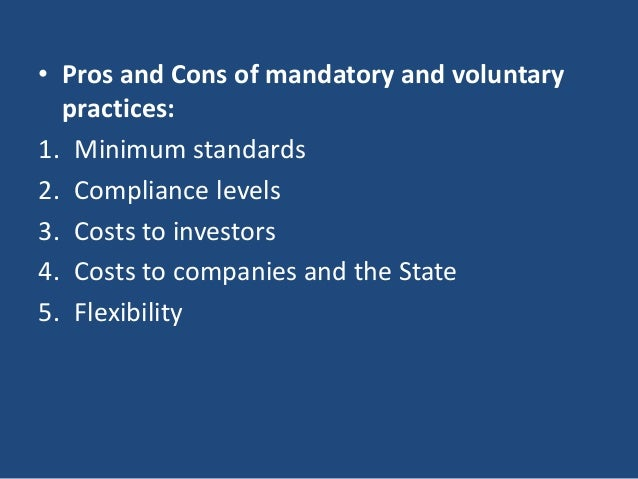 pros and cons of corporate governance