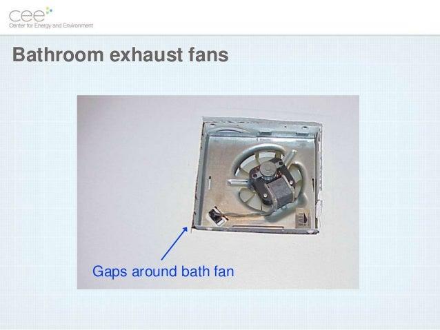 Gaps Around Bath Fan Bathroom Exhaust Fans ...