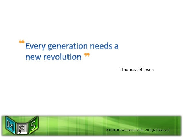 © CDTECH Innovations Pvt Ltd . All Rights Reserved — Thomas Jefferson