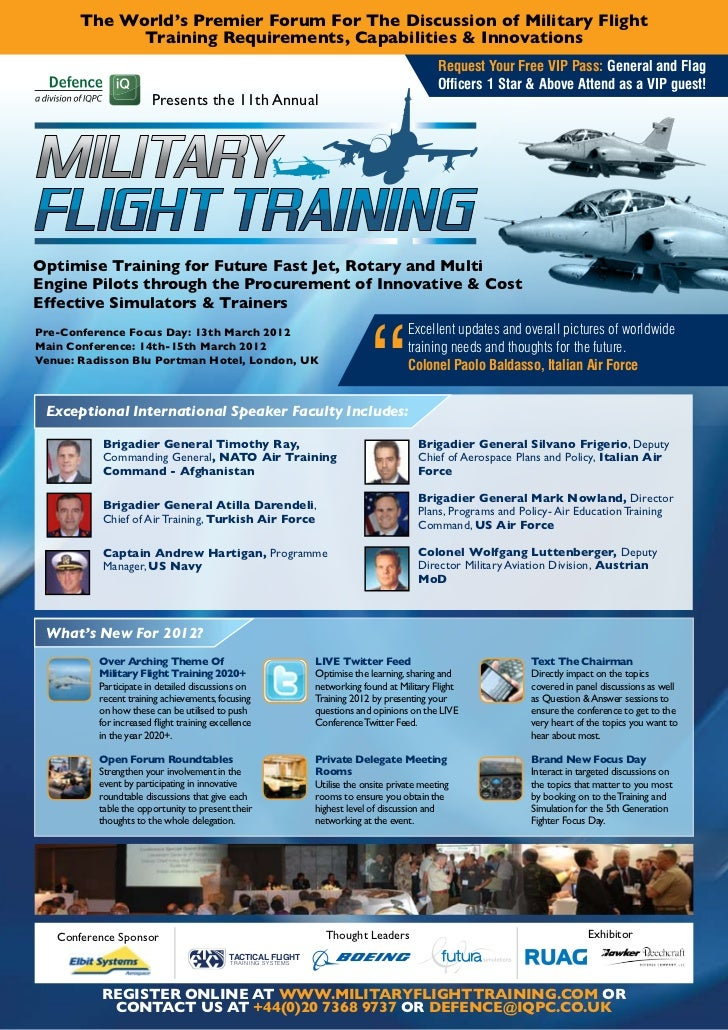 The World's Premier Forum For The Discussion of Military Flight             Training Requirements, Capabilities & Innovati...