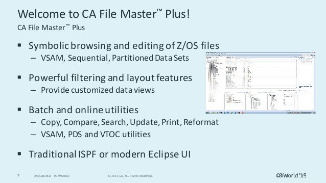 see mainframe data in a new way with ca file master plus rh slideshare net Timex Product Manual Files Sites Manual Icon File