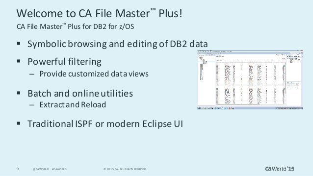 see mainframe data in a new way with ca file master plus rh slideshare net Shark Shark Files Manual Manual Medicare Common Working File Manual