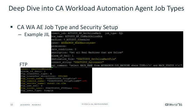 Pre-Con Ed: Deep Dive into CA Workload Automation Agent Job