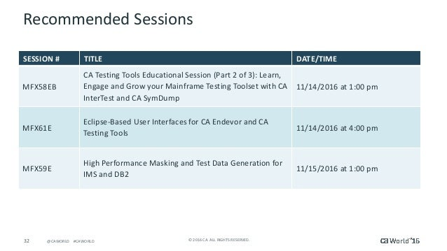 Pre-Con Ed: CA Testing Tools Educational Session (Part 1 of 3): Learn…