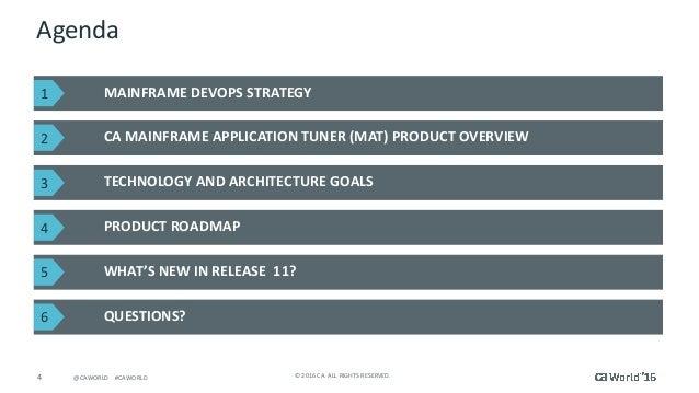Michael DuBois CA Technologies VP, Product Management; 4.