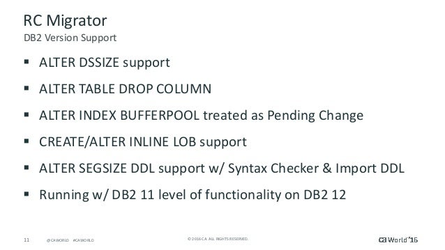 Pre-Con Ed: What's New with CA DB2 Tools for Administration