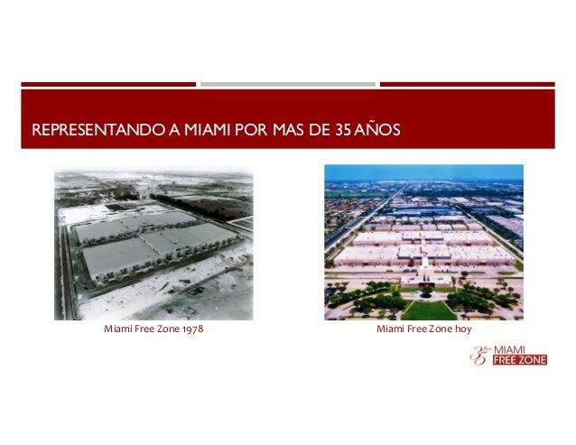 REPRESENTANDO A MIAMI POR MAS DE 35 AÑOS  Miami Free Zone 1978 Miami Free Zone hoy