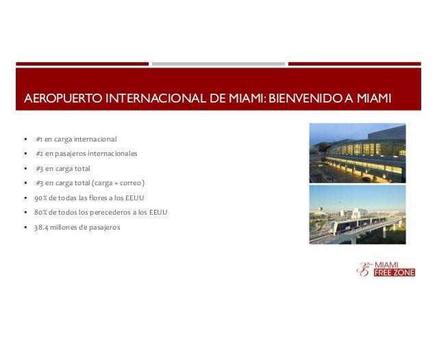 AEROPUERTO INTERNACIONAL DE MIAMI: BIENVENIDO A MIAMI   #1 en carga internacional   #2 en pasajeros internacionales   #...