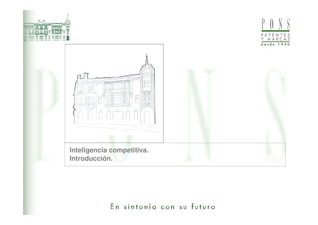 Inteligencia competitiva.Introducción.