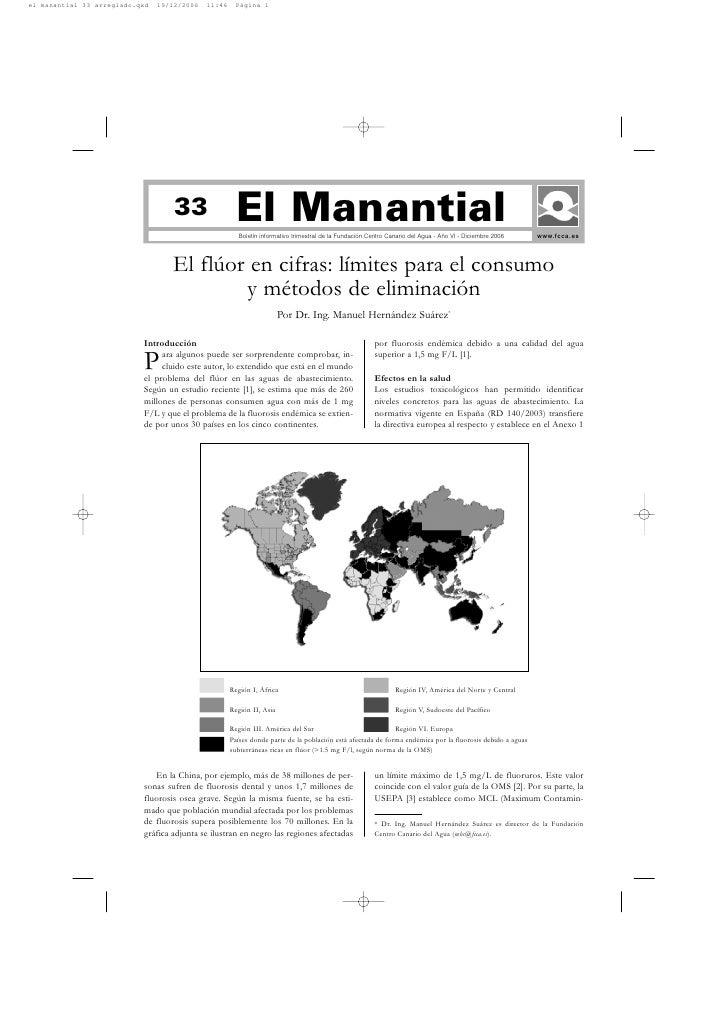 33                El Manantial                          Boletín informativo trimestral de la Fundación Centro Canario del ...