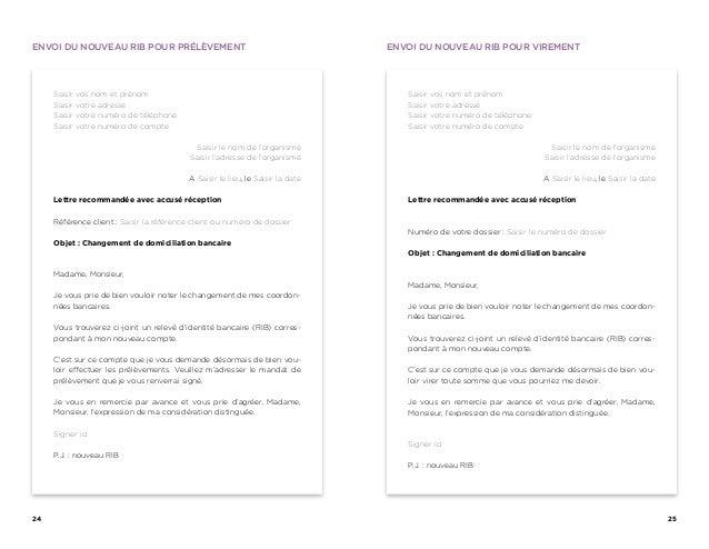 modele lettre changement compte bancaire Changer de banque : le guide de la mobilité modele lettre changement compte bancaire