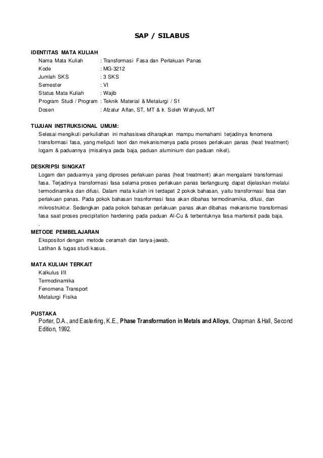 Mg3212 transformasi fasa amp perlakuan panas 02 sap silabus identitas mata kuliah nama mata kuliah transformasi fasa dan perlakuan panas kode ccuart Image collections