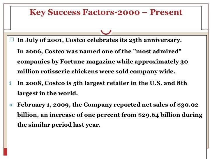 Key success factors for costco