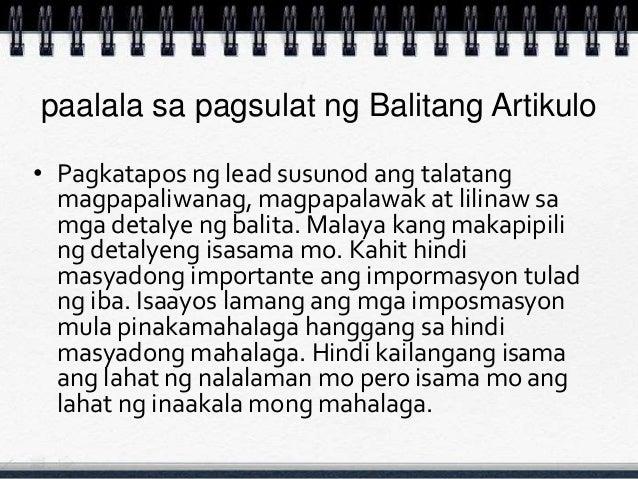 talatang ekspositori Magbigay ng isang talata na nagsasaad ng tekstong nagsasalaysay ano kaya mo.