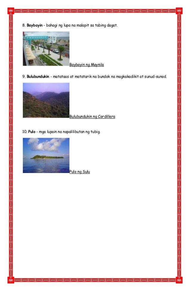 Mga anyong lupa at tubig sa pilipinas Slide 3
