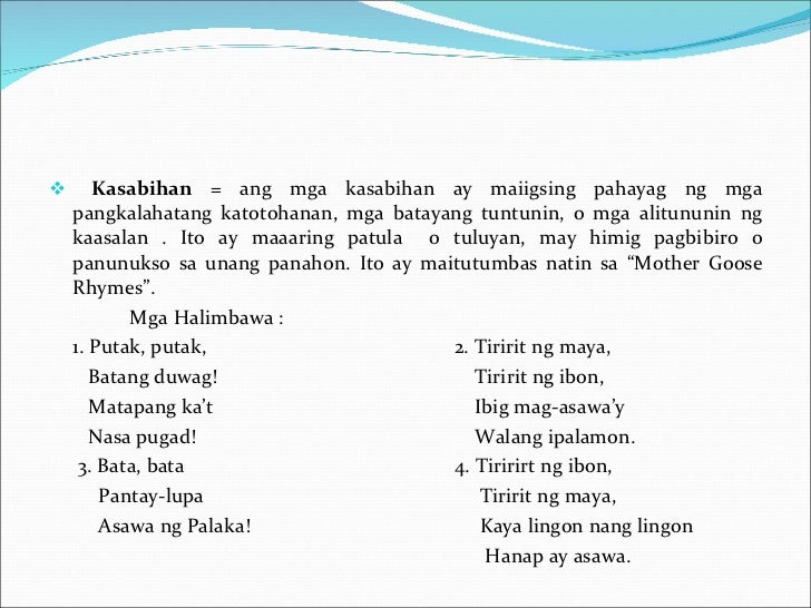 mga salawikain at ang kahulugan This salawikain is often exclaimed by an aggrieved person when something or  someone he/she expects to happen or come, did not happen or.