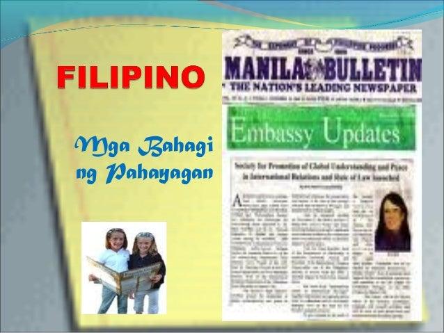 mga bahagi ng thesis sa filipino