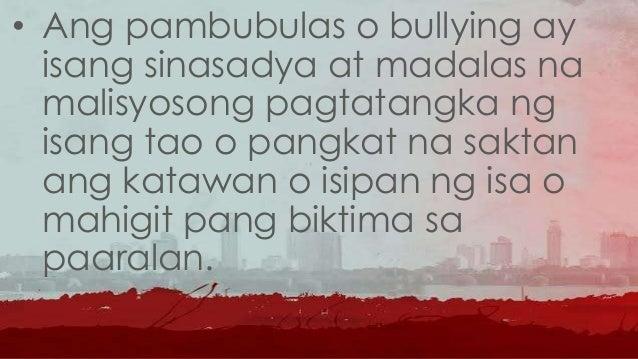 • Ito ay nagaganap dahil sa hindi pantay na kapangyarihan o lakas sa pagitan ng mga tao.