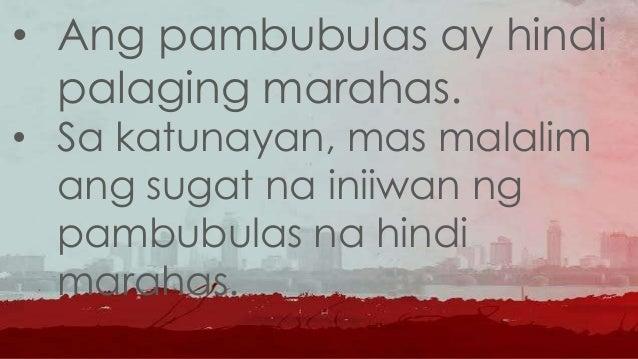 Mga URI NG PAMBUBULAS