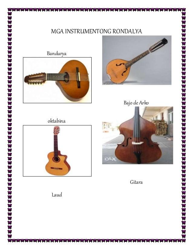 MGA INSTRUMENTONG RONDALYA Bandurya oktabina Laud Bajo de Arko Gitara