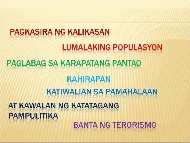 Mga Isyu At Problema Sa Pilipinas Bunga Ng Mga Pagbabago
