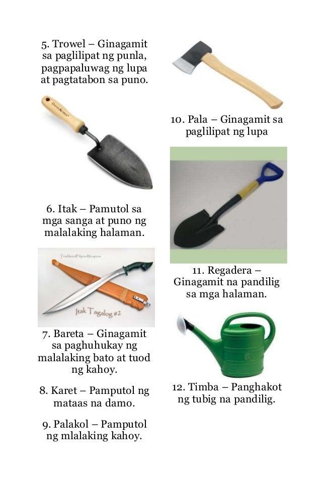 Mga kagamitan at kasanayan sa pagtatanim for Gardening tools kalaykay