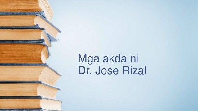 Mga akda ni Dr. Jose Rizal