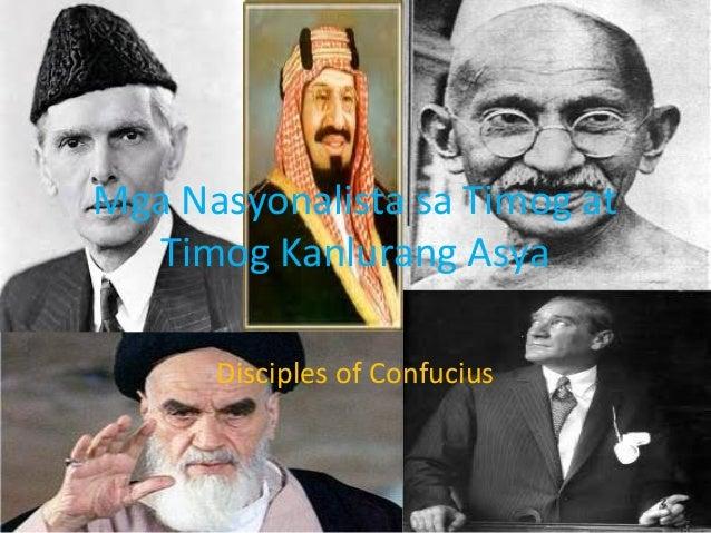 Mga Nasyonalista sa Timog at Timog Kanlurang Asya Disciples of Confucius