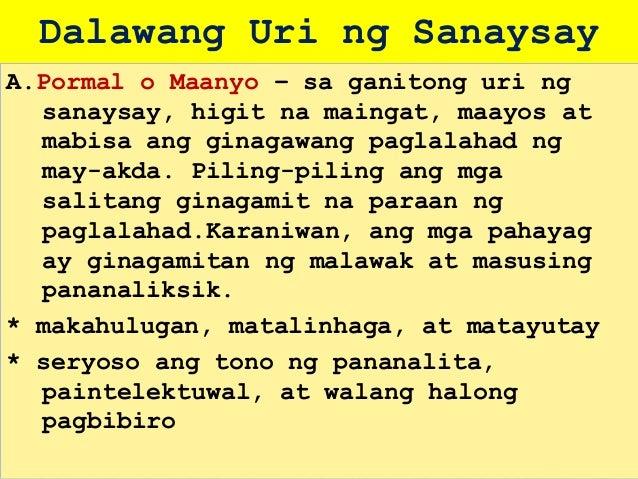 Sanaysay: Uri, Bahagi at Halimbawa ng Sanaysay