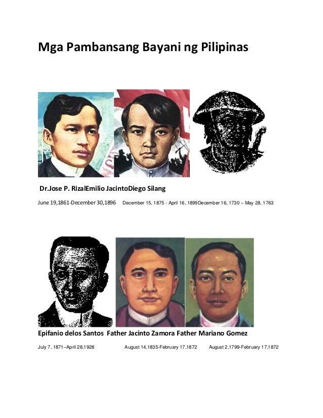 Mga Pambansang Bayani ng Pilipinas Dr.Jose P. RizalEmilio JacintoDiego Silang June 19,1861-December 30,1896 December 15, 1...