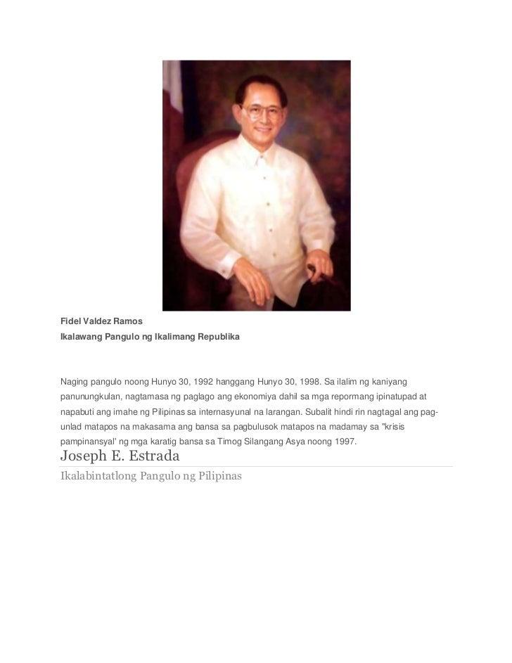 Naging pangulo ng pilipinas mga Politika: Mga