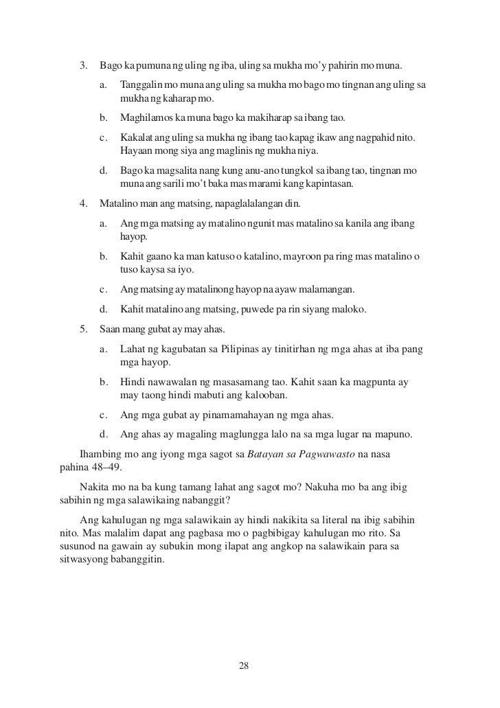 mga salawikain at kahulugan nita tagalog Mga salawikain - download as word doc (doc / docx), pdf file (pdf), text file  (txt) or read online  matapang sa kapwa pilipino, susukot-sukot sa harap ng  dayo 9  ang mabuting halimbawa, ay higit na mabisa kaysa pahayag na dakila  18  nagkasabay sa pag-uwi si ryeowook at ang batang babae na si anita.