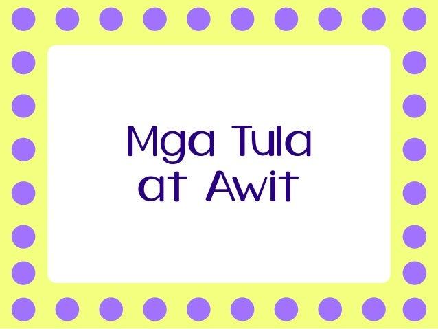 Mga Tula at Awit