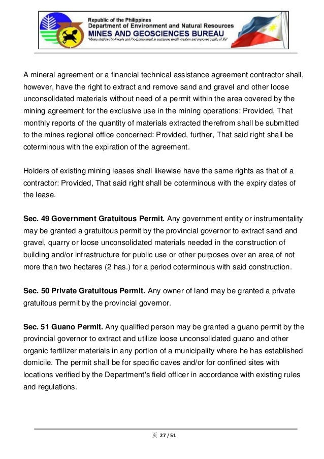 Philippine Mining Act Mgb