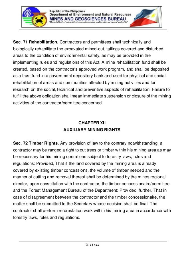 Philippine mining law